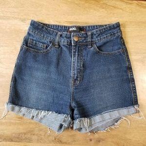 BDG High Rise Dark Wash Denim Shorts Size 27/4